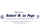 Le Page, Robert W, MRICS, FCIOB, FASI, FBEng, FIPD